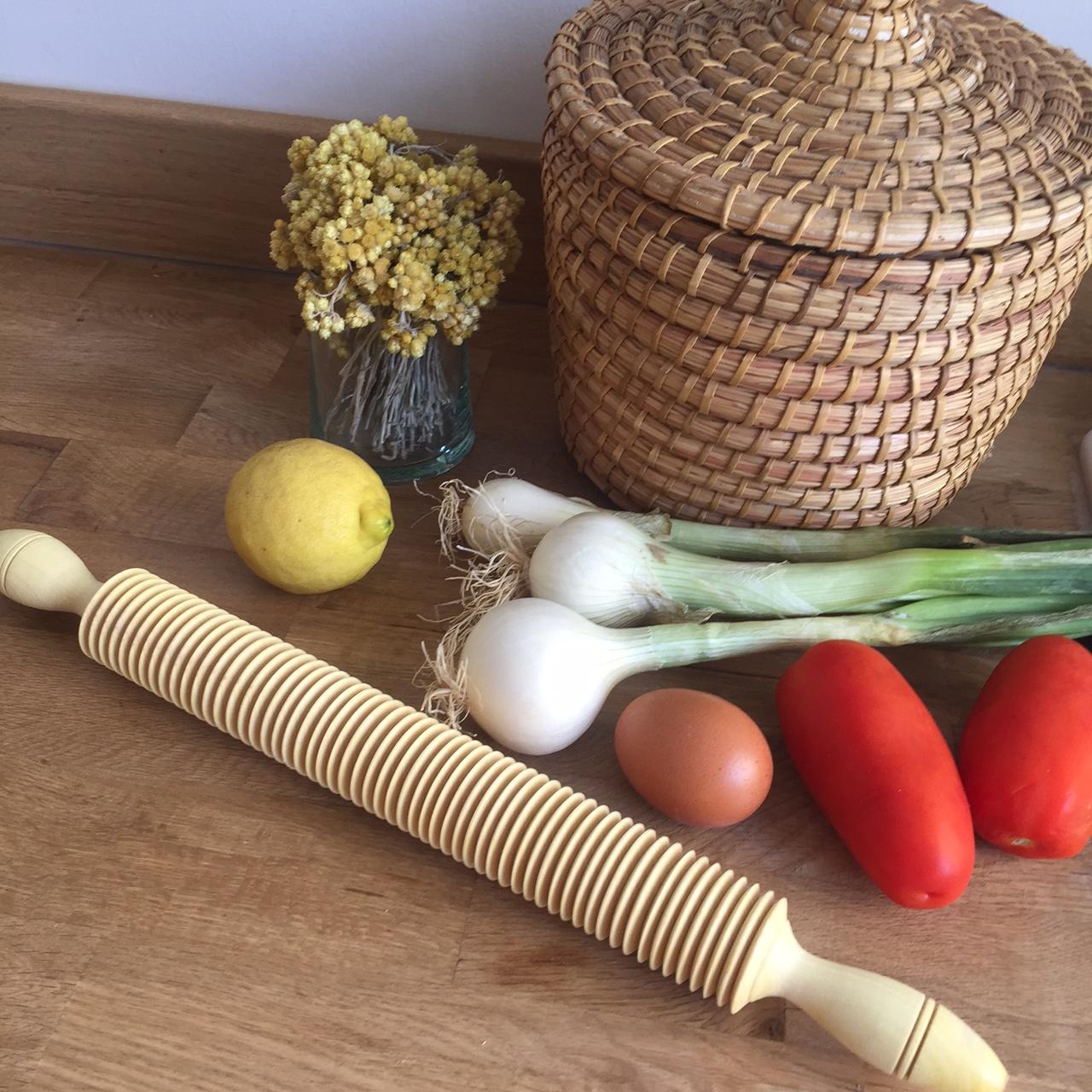 Rouleau à pâtisserie en bois de citronnier