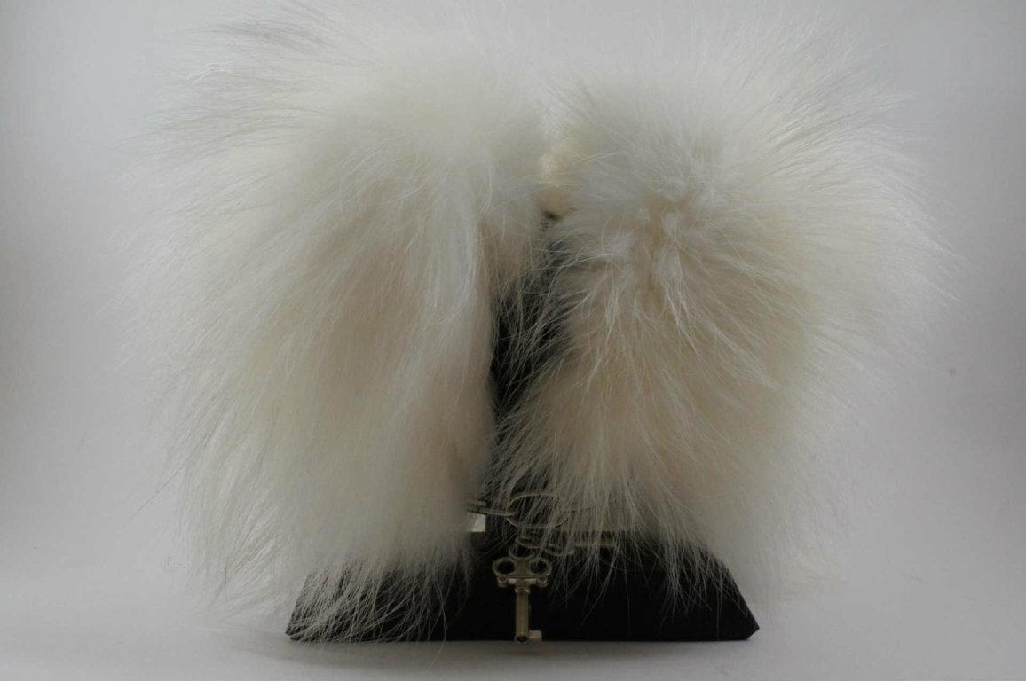 Menottes fourrure blanc