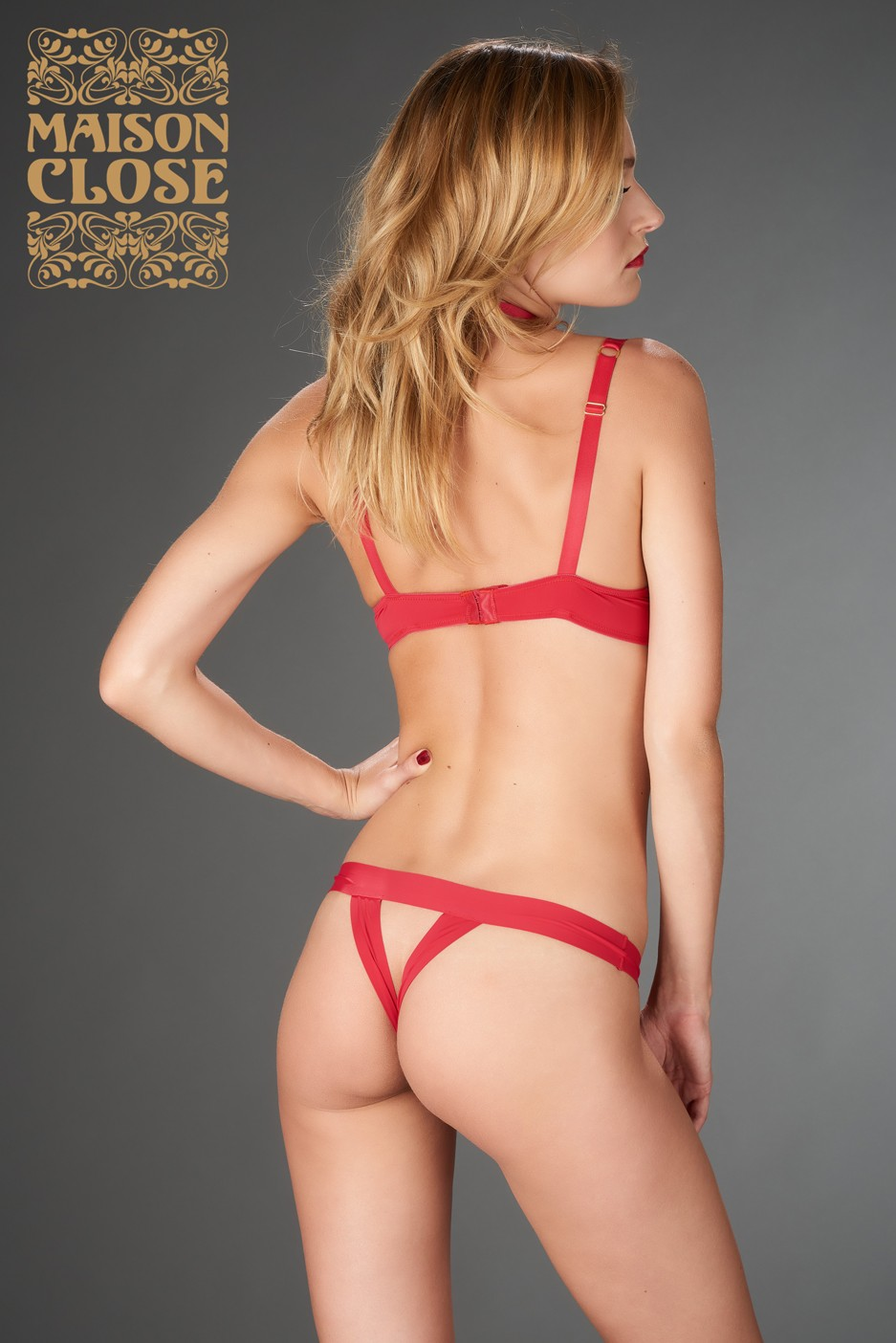 Tapage Nocturne string rouge Maison Close
