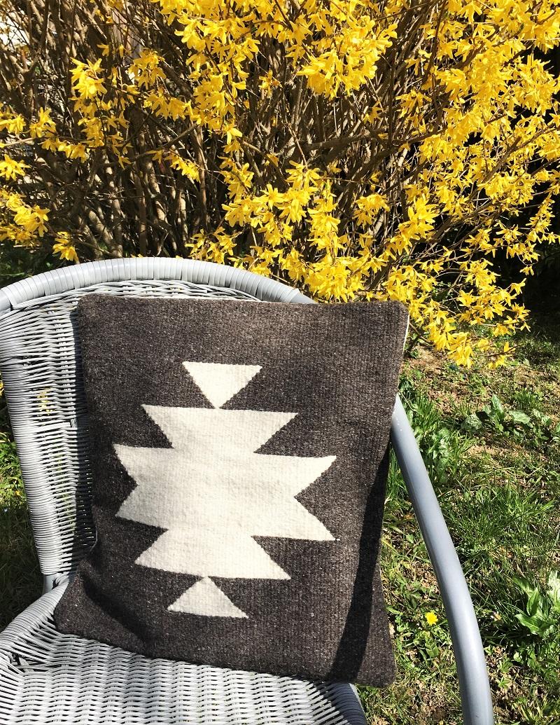 Coussin en laine naturelle